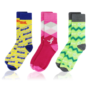 Custom PMS color Dress Socks with your company logo