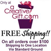 A Creative Gift .com ONLY FREE SHIPPING OFFER