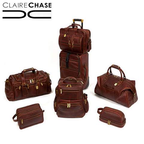 Custom Leather Luggage by Clair Chase - We can create leather luggage, bags and totes to your custom specifications!