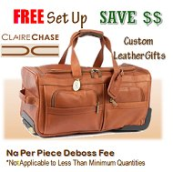 ClaireChase Leather Gifts - Free Set Up Fee and No Deboss Fee's When you purchase the Minimum Order !