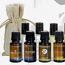 Each of the bottles in the aromatherapy collection can be customized with your company logo.