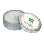 Karma Candle Small Push Tin Silver