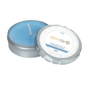 Exhale Candle Large Push Tin Silver