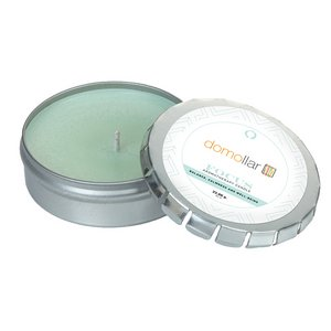 Focus Essential Oil Infused Soy Wax Candle Large Push Tin Silver