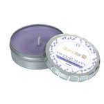 Tranquility Candle Large Push Tin Silver