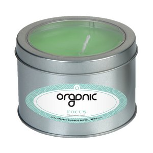 Focus Essential Oil Infused Soy Wax Candle Large Window Tin