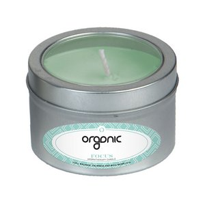 Focus Essential Oil Infused Soy Wax Candle Small Window Tin